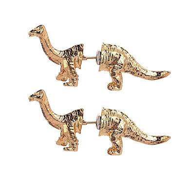 levne Dámské šperky-Dámské Peckové náušnice 3D Draci Dinosaurus Jedinečný design Vintage Animák Náušnice Šperky Zlatá / Černá / Stříbrná Pro Karneval Klub 1 Pair