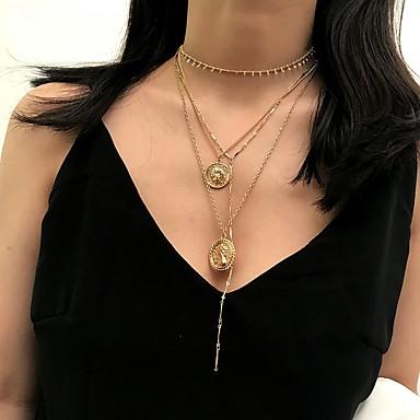 สำหรับผู้หญิง สร้อยคอจี้ สร้อยคอ สร้อยคอชั้น โรแมนติก แฟชั่น สง่างาม โครเมียม สีทอง สีเงิน 30 cm สร้อยคอ เครื่องประดับ 1pc สำหรับ การหมั้น ของขวัญ ทุกวัน ฮอลิเดย์ เทศกาล / สร้อยคอยาว