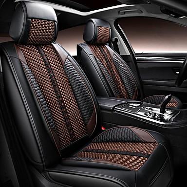 voordelige Auto-interieur accessoires-5 zetels pu leer en ijszijde vier seizoenen universele autostoelhoes / airbagcompatibiliteit / verstelbaar en afneembaar