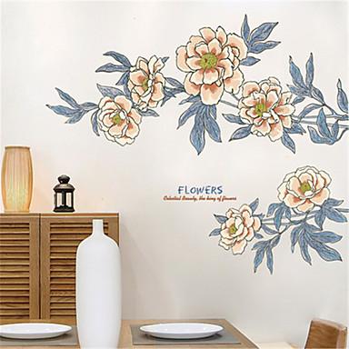 ห้องนั่งเล่นที่อบอุ่นข้างเตียงนอนวินเทจเครื่องประดับ applique สติกเกอร์ติดผนังพื้นหลังโซฟาขนาดใหญ่สติกเกอร์ติดด้วยตนเองดอกไม้