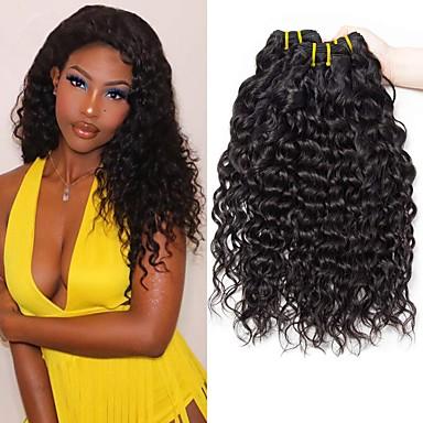 povoljno Ekstenzije od ljudske kose-4 paketića Brazilska kosa Water Wave Remy kosa Ljudske kose plete Bundle kose Jedan Pack Solution 8-28inch Prirodna boja Isprepliće ljudske kose Sladak Modni dizajn Dar Proširenja ljudske kose