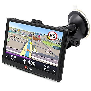 levne Auto Elektronika-junsun d100-pt 7 palcové auto 3d gps bluetooth navigace av-in rozhraní podpora Windows Ce 6.0 mapy s bezplatnými aktualizacemi