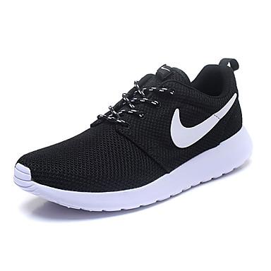 สำหรับผู้ชาย รองเท้าสบาย ๆ ตารางไขว้ ฤดูร้อนฤดูใบไม้ผลิ รองเท้ากีฬา สำหรับวิ่ง สีดำและสีขาว / การกรีฑา