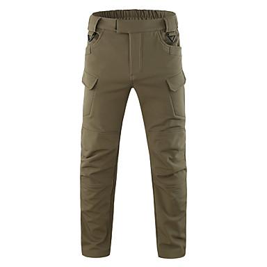 สำหรับผู้ชาย Hiking Pants Softshell Pants Cargo Pants อำพราง กลางแจ้ง กันลม ผ้าซับในขนสัตว์ รักษาให้อุ่น แห้งเร็ว ฤดูใบไม้ร่วง ฤดูใบไม้ผลิ ฤดูร้อน กางเกง / ฤดูหนาว