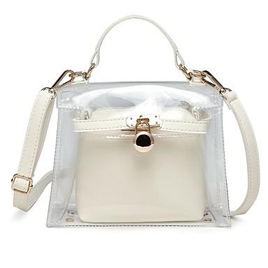 preiswerte Wasserdichte Taschen-Damen Knöpfe PVC / PU Bag Set Beutel Sets 2 Stück Geldbörse Set Schwarz / Weiß / Rosa / Herbst Winter