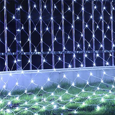 6 * 4 เมตร ไฟสาย 800 ไฟ LED RGB / White / น้ำเงิน Waterproof / Creative / ปาร์ตี้ 220-240 V 1set / IP44