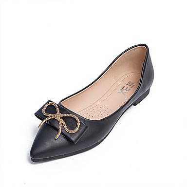 สำหรับผู้หญิง รองเท้าส้นเตี้ย ส้นแบน Pointed Toe หัวเข็มขัด Microfibre คลาสสิก / ไม่เป็นทางการ วสำหรับเดิน ฤดูร้อนฤดูใบไม้ผลิ สีดำ / สีน้ำตาล / ผ้าขนสัตว์สีธรรมชาติ