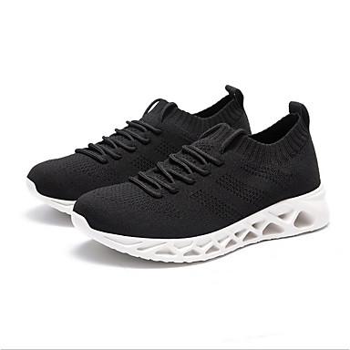 สำหรับผู้หญิง รองเท้ากีฬา ส้นแบน Tissage Volant ฤดูร้อนฤดูใบไม้ผลิ สีดำ / สีดำและสีขาว
