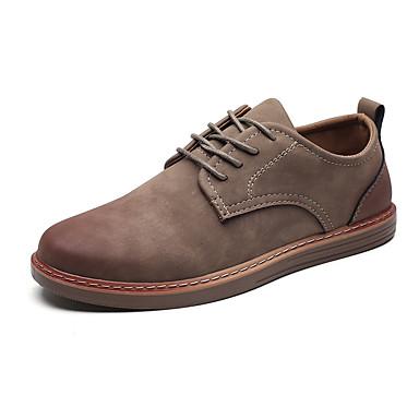 สำหรับผู้ชาย รองเท้า Bullock Synthetics ฤดูร้อนฤดูใบไม้ผลิ คลาสสิก / อังกฤษ รองเท้า Oxfords ไม่ลื่นไถล สีดำ / สีน้ำตาล / สีเทา / กลางแจ้ง