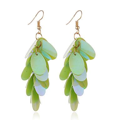 สำหรับผู้หญิง Drop Earrings Stylish ต่างหู เครื่องประดับ สีเขียว / ฟ้า / สีชมพู สำหรับ ทุกวัน 1 คู่