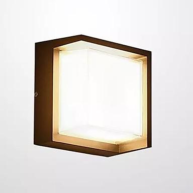 QIHengZhaoMing นาฬิกา LED / สมัยใหม่ร่วมสมัย ไฟผนังภายนอก Shops / Cafes / สำนักงาน โลหะ โคมไฟติดผนัง 110-120โวลล์ / 220-240โวลต์ 12 W