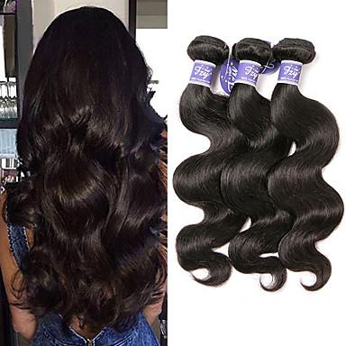 povoljno Ekstenzije od ljudske kose-3 paketa Peruanska kosa Tijelo Wave Virgin kosa Netretirana  ljudske kose Ljudske kose plete Bundle kose Ekstenzije od ljudske kose 8-28 inch Prirodna boja Isprepliće ljudske kose Odor Free Modni