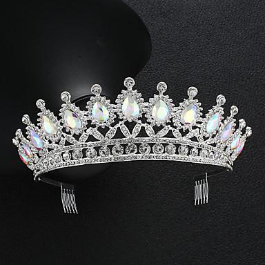 povoljno Party pokrivala za glavu-Kristal / Legura tijare s Kristal 1 komad Vjenčanje / Special Occasion Glava