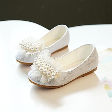 3b3ee6a26d602 [$22.99] MRLOTUSNEE® Girls' Lace / Mesh Flats Toddler(9m-4ys) / Little  Kids(4-7ys) Ballerina / Flower Girl Shoes Pearl White / Pink Spring / Fall  / ...