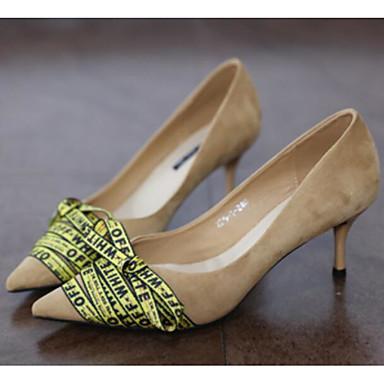 สำหรับผู้หญิง รองเท้าส้นสูง ส้น Stiletto ขนสัตว์ ตก สีดำ / Almond / ฟ้า / ทุกวัน