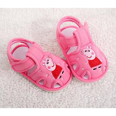 voordelige Babyschoenentjes-Meisjes Comfortabel / Eerste schoentjes Katoen Sandalen Peuter (9m-4ys) Grijs / Fuchsia / Roze Zomer