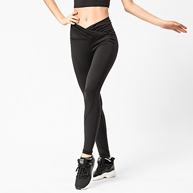 8727f1269760d Women's Yoga Pants Sports Solid Color Tights Leggings Bottoms Fitness Gym  Workout Activewear Breathable Moisture Wicking Quick Dry Sweat-wicking High  ...