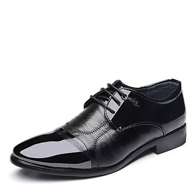 สำหรับผู้ชาย รองเท้าสบาย ๆ PU ฤดูใบไม้ผลิ ไม่เป็นทางการ รองเท้า Oxfords สวมหลักฐาน สีดำ