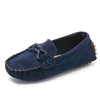 cheap Kids' Shoes-Boys' / Girls' Moccasin Suede Loafers & Slip-Ons Toddler(9m-4ys) / Little Kids(4-7ys) Fuchsia / Blue / Brown Spring / Fall