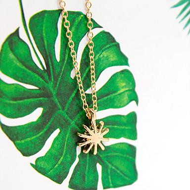 levne Dámské šperky-Dámské Náhrdelník Charm náhrdelník Chrome Zlatá Stříbrná 46 cm Náhrdelníky Šperky 1ks Pro Denní Škola Street Dovolená Festival