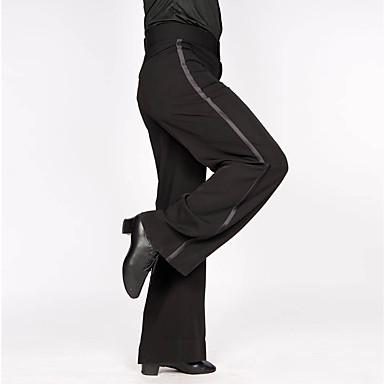 povoljno Odjeća i obuća za ples-Latino ples Donji Muškarci Trening / Seksi blagdanski kostimi Mješavina poliestera i pamuka Lente / Vrpce Prirodno Hlače