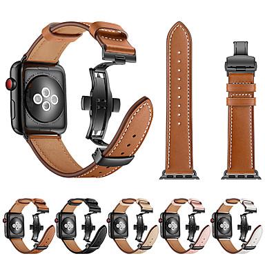 smartwatch band for Apple Watch serien 4/3/2/1 skinn sommerfugl spennebånd iwatch stropp
