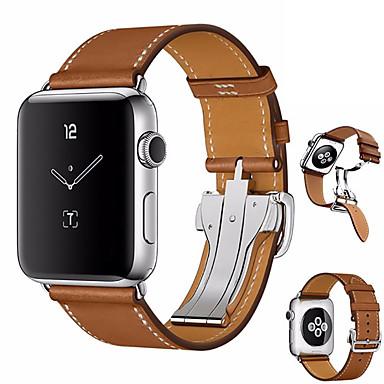 preiswerte Blitzverkauf-Uhrenarmband für Apple Watch Series 4 Apple Schmetterling Schnalle Echtes Leder Handschlaufe