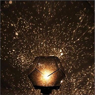 baratos Brinquedos Criativos & Pegadinhas-Estrela Céu Estrelado e Galáxias Universo Luminária Noite Estrelada Lâmpadas em forma Estrela Iluminação de LED Brinquedos Com Luzes Constellation Lamp Rotativo Faça Você Mesmo Simulação Adulto