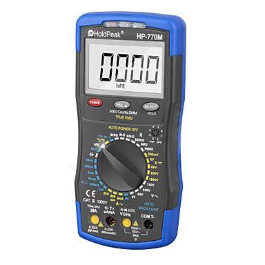 levne Testovací, měřící a kontrolní vybavení-holdpeak digitální multimetr hp-770m auto rozsah rms detektor ac / dc ampérmetr voltmetr ohm ncv hfe tranzistor tester multimetro