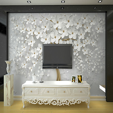cheap Wallpaper-White Rich Tree Suitable for TV Background Wall Wallpaper Murals Living Room Cafe Restaurant Bedroom Office XXXL(448*280cm)