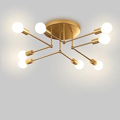 [$58 57] 8-Light Sputnik / Linear / Geometrical Flush Mount Lights Ambient  Light Painted Finishes Metal Matte, Creative, New Design 110-120V /