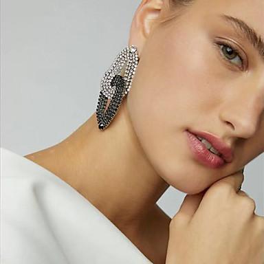povoljno Modne naušnice-Žene Viseće naušnice Dvobojna Europska pomodan Moda Moderna Imitacija dijamanta Naušnice Jewelry Crno-bijeli Za Party Ulica Rad Klub Jabuka 1 par