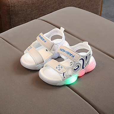 voordelige Babyschoenentjes-Jongens Oplichtende schoenen PU Sandalen Peuter (9m-4ys) / Little Kids (4-7ys) Zwart / Rood / Blauw Zomer / Rubber