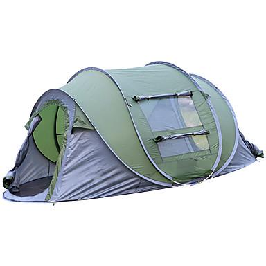 b51bbfa7 4 person Pop up telt Udendørs Letvægt UV-resistent Regn-sikker Enkeltlags  Pop-up camping telt 2000-3000 mm for Strand Camping / Vandring / Grotte ...