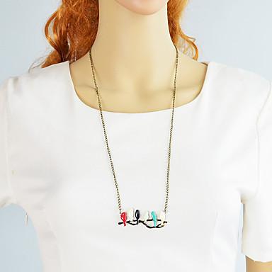 povoljno Modne ogrlice-Žene Ogrlice s privjeskom fantazija Ptica slatko Moda Moderna Krom Drevni Brončana 33.7 cm Ogrlice Jewelry 1pc Za Dnevno Rad Festival