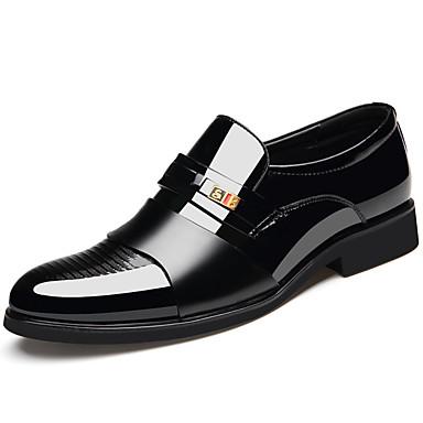בגדי ריקוד גברים נעליים פורמליות עור אביב קיץ קלסי / בריטי נעליים ללא שרוכים ללבוש הוכחה שחור / חום