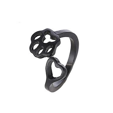 levne Dámské šperky-Dámské Prsten 1ks Černá Stříbrná Růžové zlato Slitina Párty Dar Šperky