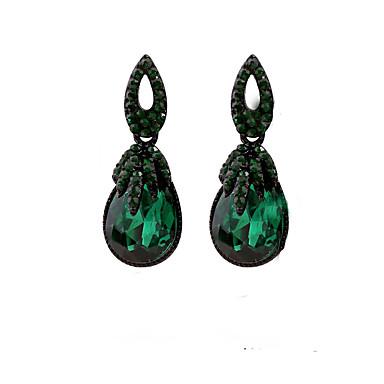 povoljno Modne naušnice-Žene Viseće naušnice Naušnice Jewelry Zelen Za Dnevno Festival 1 par