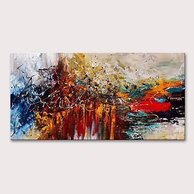 cheap Oil Paintings-Oil Painting Hand Painted Abstract Modern Rolled Canvas Rolled Without Frame