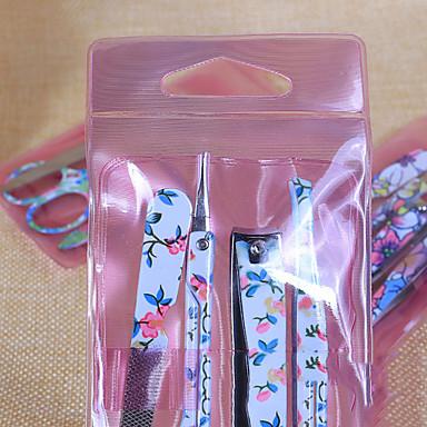 voordelige Nagelgereedschap & Apparatuur-1 set Roestvast staal Nail Cleaning Tools Voor Vingernagel Teennagel Veiligheid / Verwijderbaar / Slijtvast Bloemen Series Nagel kunst Manicure pedicure Eenvoudig Dagelijks