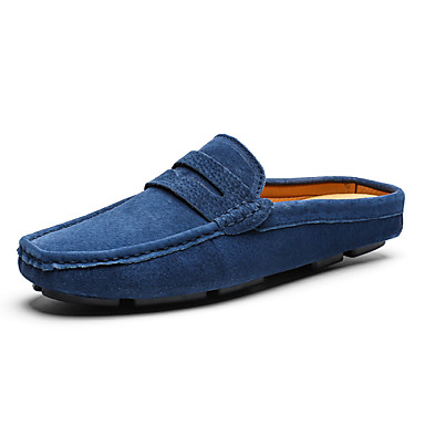 men's leather shoes pigskin summer business / casual clogs