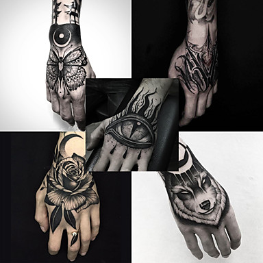 899 5 Pcs Temporary Tattoos Water Resistant Best Quality Hand Brachium Tattoo Stickers