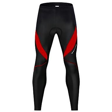 WOSAWE Muškarci Žene Biciklističke hlače Bicikl Hlače noga Grijači Pad 3D Reflektirajuće trake Sportski Spandex Zima Crno bijela  / / Crna / crvena Brdski biciklizam biciklom na cesti Odjeća Odjeća