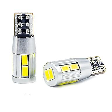 povoljno Motori i quadovi-2kom super bijeli t10 klin 10 smd 5630 LED žarulje w5w 2825 158 192 168 194