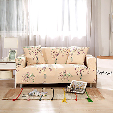25 64 2019 New Fl Print Sofa Cover Stretch Couch Slipcover Super Soft Fabric High Quality