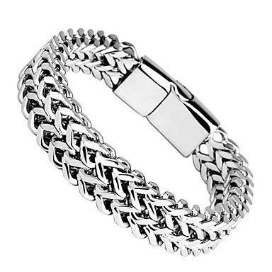 levne Pánské šperky-Pánské Náramek Silný řetězec XOXO Moderní Titanová ocel Náramek šperky Stříbrná Pro Denní