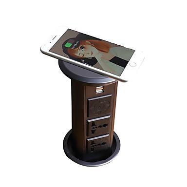 preiswerte Lautsprecher-knospe uk / au / uk / eu / kr uns-04a kabelloses ladegerät bluetooth lautsprecher kücheninsel büro desktop pop-up steckdose