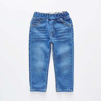 povoljno Odjeća za dječake-Djeca Dječaci Osnovni Ulični šik Jednobojni Pamuk Traperice Plava