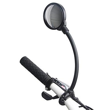billige Sykkeltilbehør-Bakspeil Speil til sykkelstyre Konvekst speil Justerbare Universell Fleksibel Sykling motorsykkel Sykkel Aluminum Alloy PVC Svart Fjellsykkel Foldesykkel Fritidssykling