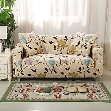 cheap Home Textiles-2019 New Floral Print Sofa Cover Stretch Couch Slipcover Super Soft Fabric High Quality Couch Cover